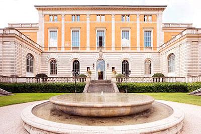 altrospazio fotografia, ingresso dell'Accademia Americana a Roma, sul Gianicolo