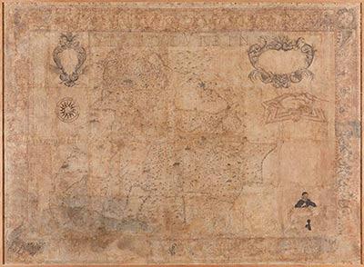 altrospazio fotografia, riproduzione in alta definizione (HD) di una mappa di Urbino conservata nel Palazzo Ducale