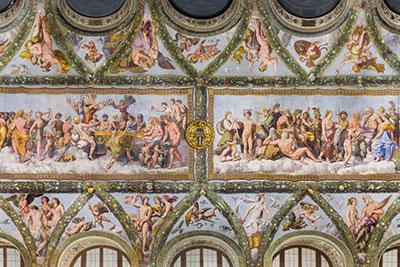 altrospazio fotografia, Villa Farnesina, soffitto della Loggia di Amore e Psiche dipinto da Raffaello e Giovanni da Udine