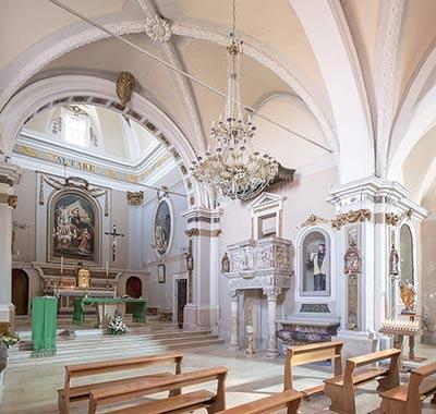 altrospazio, interno della chiesa di San Nicola a Corcumello